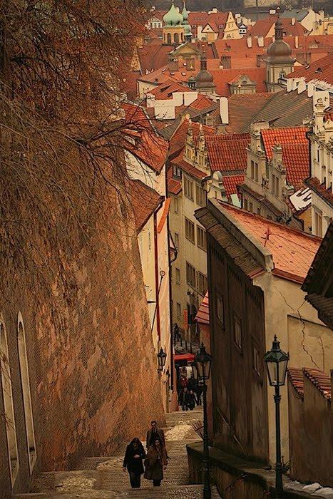 Steep Climb, Prague, Czech Republic